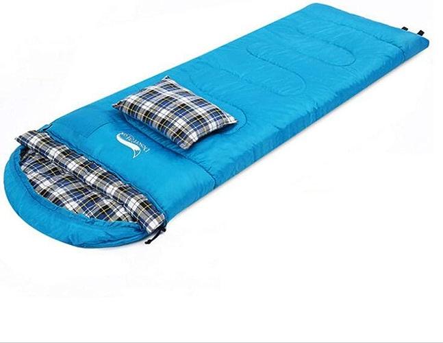 SZ JIAOJIAO Sac de Couchage en Plein air léger enveloppe Chaude Sac de Couchage Camping Double Couple Sac de Couchage Camping déjeuner Pause Sac de Couchage,bleu