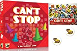 Can't Stop Board Game Bundle of Base Game and The Expansion Plus Two Treasure Chest Buttons