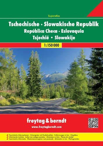 Tsjechië & Slowakije Wegenatlas F&B: Wegenatlas 1:150 000