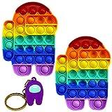 BAYINBROOK (2 pezzi) Pop Bubble Sensory Fidget Toy, strumenti anti-ansia per gli appassionati di...