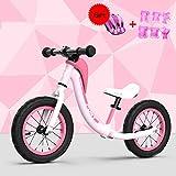 YSA Bicicleta de Equilibrio para bebés, Bicicleta de Empuje para niños pequeños Niños de 2, 3, 4, 5, 6 años Niños Niñas Sin Control de Pedal Bicicleta para Caminar Ultra Ligero, Rosa
