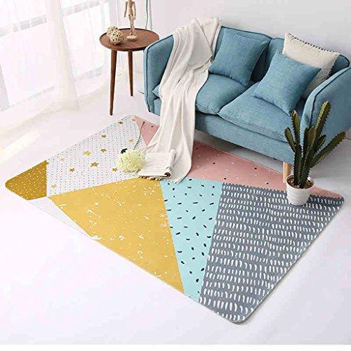 Creative Light Modern Home Carpets Geometry Art Salon Chambre à Coucher Rectangle Rêve Mats (Taille : 120cm*180cm)