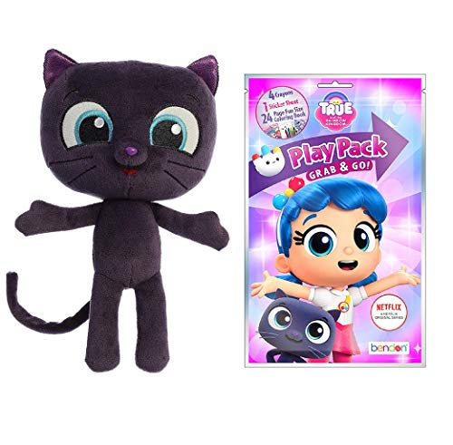 Aurora True and The Rainbow Kingdom, Bartleby Plush Doll with Coloring and Stickers Activity Pack
