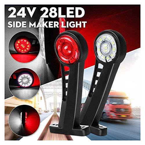 GZA 2 Unids 24v Camión De Coche Codo Marcador De Luces Indicador Luz Señal De Advertencia Lámpara Trasera Cola Luz para Remolque Van Camión Autobús