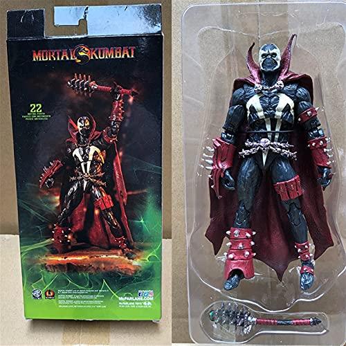 Htipdfg Figura de acción Mortal Spawn Kombat Figura de acción Muñeca de Juguete Brinquedos figurales Colección Modelo de Regalo 18cm muñeca (Color : with Box)