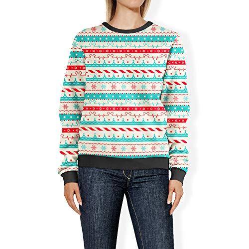 Kerstmis Candycane Disney Heartbeat Womens Sweatshirt trui