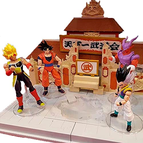 30Cm Dragon Ball Anime Figures The WorldS No. 1 Budokai Meeting Arena Scene, Action Figure Pvc Collections Statue Model Toys Gifts