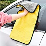 GreatCool Car 24'' x 12'' Large Microfiber Cleaning Cloth Drying Towel Scratch-Free Lint Free Auto Wash Detailing Wax Foam Mitt for Cars, SUVs, RVs, Trucks, Boats and Home Polishing Washing - 2 Pack
