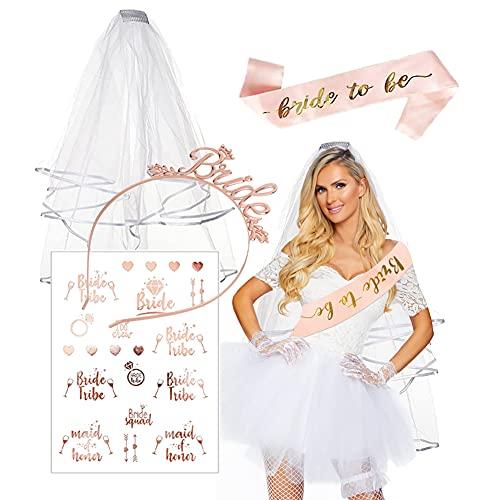 HONGECB Bride to be Decoracion, Despedida Soltera Accesorios, Despedida de Soltera, Velo...