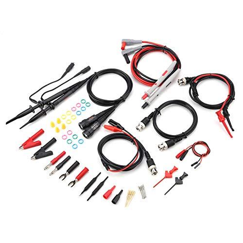 Juego de cables de prueba para multímetro, juego de sonda de osciloscopio con pinzas de cocodrilo Juego de puntas de sonda reemplazables Aplicar a multímetro, voltímetro, pinza amperimétrica