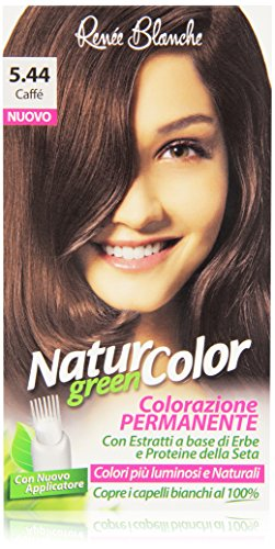 teinture pour les cheveux coloration permanent naturel natur color greenn 544 caffe'