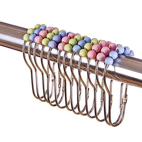 TEERFU Lot de 15 anneaux en acier inoxydable pour rideau de douche Chromé poli