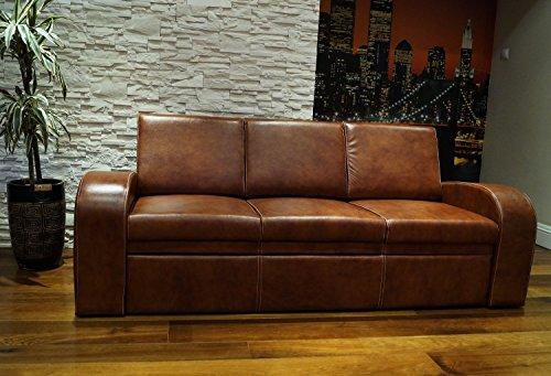 Quattro Meble Echtleder 3 Sitzer Sofa Oslo FS Breite 200cm Ledersofa Echt Leder Couch große Farbauswahl !!!