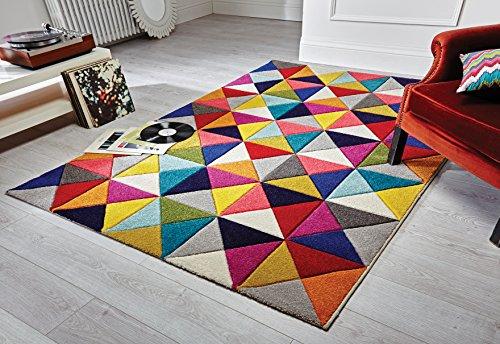 Flair Rugs Spectrum - Alfombra/Tapete con diseño Moderno y Abstracto - Multicolor Samba 120 x 170cm