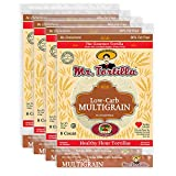 Mr. Tortilla Low-Carb Multigrain Tortillas - Fresh Delicious Soft Taco Shells - Healthy Keto Food Wraps - Organic Wheat Flour - Great for Pizza Crust, Quesadilla, Burrito - 8-Count, 4-Pack