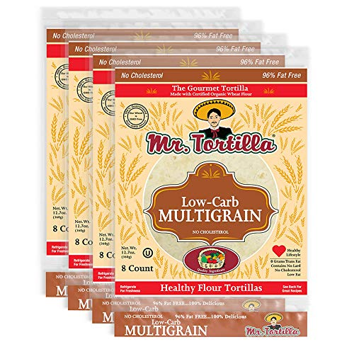Low-Carb Multigrain Tortilla by Mr. Tortilla (4 Pack)