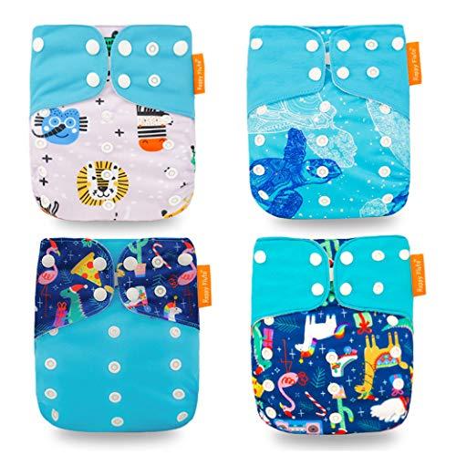 Yeelan Baby Stoffwindel All-in-One Pocket Windel Waschbare Wiederverwendbare Windeleinlage für Kleinkinder (Schildkröte)
