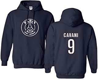 New Paris Soccer Shirt #9 Cavani Men's Hooded Sweatshirt