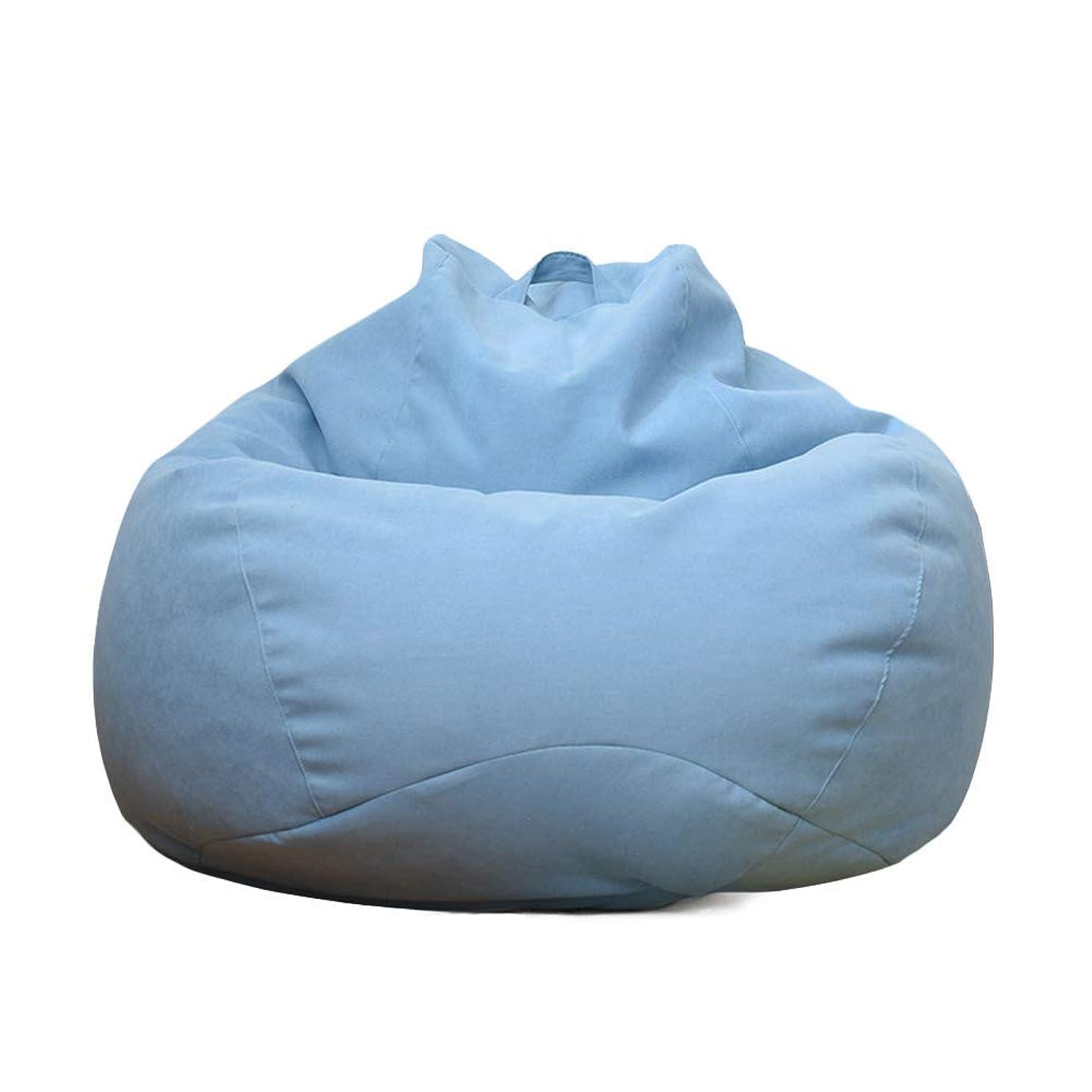 葡萄溶接マキシムビーズクッション 座布団 座椅子 座布団 腰痛 低反発 無地 取り外し可能 80*90cm (ライトブルー)