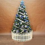 FHKSFJ Árbol de Navidad, preiluminado, Luces LED Artificiales Decorativas y Soportes metálicos, bisagras de Abeto Azul, desplegado automáticamente, no Iluminado(Color:Blue;Size:7.8Ft(240CM))