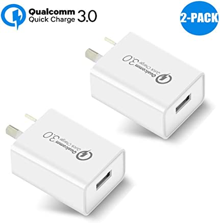 Australia 18W Quick Charge 3.0,Wong Qualcomm Certified Quick Charge 3.0 USB Wall Charger Portable Adapter(Quick Charge 2.0 Compatible) for iPhone, iPad, Samsung Galaxy/Note and More (2 Pcs White)