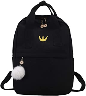 Cute Canvas Backpack Fashion Women Backpack For School Teenagers Girls Big Capacity Yellow Travel Bag