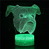 Luz nocturna LED 3D, regalo de cumpleaños creativa para perro...