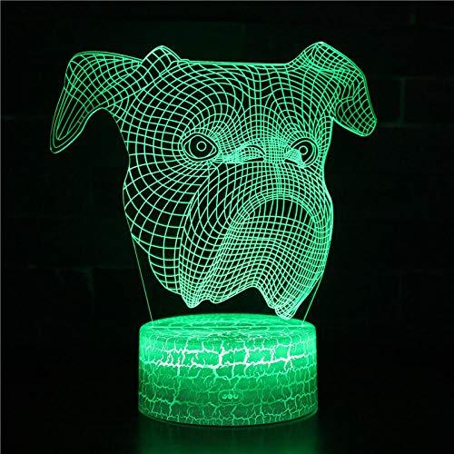 3D ilusión noche luz para niños perro 16 color Swich con control remoto para sala de estar cama bar regalo juguetes
