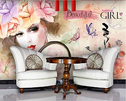 Wnyun Fotobehang 3D-zijdedoek-moderne wanddecoratie-abstract design behang-muur decoratie wandschildering-woonkamer slaapkamer aquarel beauty-shop 200 x 140 cm.