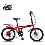 STRTG Bikes Bicicleta Plegable, Bicicleta Plegable Urbana,Unisex Adulto Urbana Plegado Bikes, 16 * 20 Pulgadas Plegable Bicicleta Folding Bike Bicicleta
