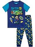 Teen Titans Go! Pijamas de Manga Larga para niños Azul 10-11 Años
