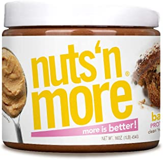 Nuts `N More Banana Nut Peanut Butter Spread, Keto, All Natural High Protein Nut Butter Healthy Snack, Omega 3's, Antioxidants, Low Carb, Low Sugar, Gluten Free, Non-GMO, Preservative Free, 16 oz Jar