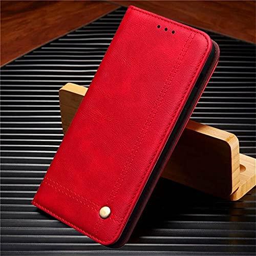 JiuRui-504 kuaijiexiaopu Fundas para Xiaomi Redmi 9 9A 9C K30 Pro 5G, Retro Caja de Cuero magnético Caja de la Bandeja de la Billetera para Xiaomi Redmi Note 9 Pro MAX
