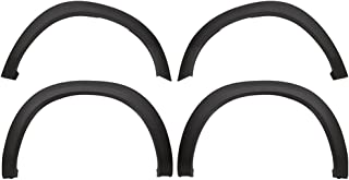 Fender Flares Compatible With 2009-2018 Dodge Ram 1500 | Factory Style Matte Black Finish PP Injection Front Wheel Cover Protector Vent Trim by IKON MOTORSPORTS | ?2010 2011 2012 2013 2014 2015 2016