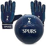 Tottenham Hotspur FC - Juego Oficial de Guantes de Portero y balón de Talla 4 - para niños - Adolescentes: 10-16 años