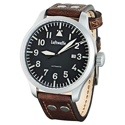 Grosse Herren XL Luftwaffe Fliegeruhr Baumuster A braun Schweizer Automatik Uhrwerk