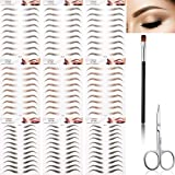 87 Pairs 9 Sheets 4D Hair-like Authentic Eyebrows Eyebrow Tattoo Stickers Waterproof Imitation Long Lasting...