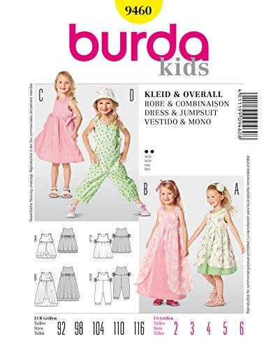 Burda Schnittmuster Kleid mit ?berrock und Overall
