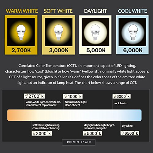 LOHAS LED A19 Bulb, 60-Watt Light Bulbs Equivalent, LED 9 Watt Soft White 3000K Lighting, LED Medium Screw Base (E26) Lights, 120 Volt, LED Light Bulbs for Home light, 240 Degree Beam Angle (6 Pack)
