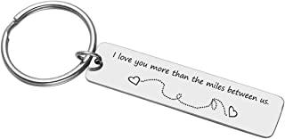 Personalized Master Free Engraving Custom Stainless Steel Drive Safe I Need You Here with Me Keychain I Love You Key Chain Ring for Couples Best Friends Family Long Distance Gift