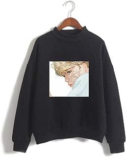 Kpop BTS High Neck Printed Loose Casual Fleece Hoodies Sweatshirts