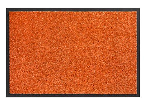 Trendstern Tapis de sol lavable en machine - Couleur tendance - Orange