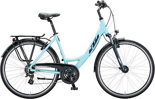 KTM Life Joy Trekking Bike 2020 (56 cm, Aqua/Eveblue/White (Einrohr))
