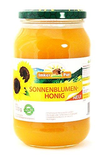 Sonnenblumen-Honig von ImkerPur®, 1200 g, kaltgeschleudert, fein-fruchtig, mit einer feinen süßsäuerlichen-Note
