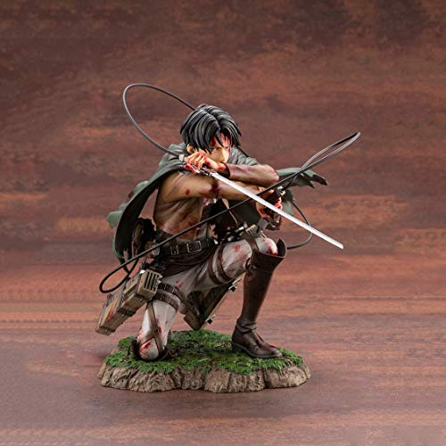 LLZZ Attack on Titan Levi·Ackerman Action Figure 1/7 Scale 17cm Fortitude Ver. Collectible Statue