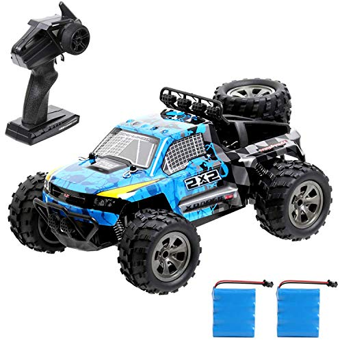 Kuorle RC Car, High Speed Off-Road Vehicle 1:18 Scale Remote Control Car 2.4GHz Electric Racing Car Remote Control Buggy Vehicle Truck Buggy Crawler Toy Car for Adults and Kids