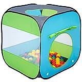 LittleTom Bällebad Spielzelt 70x70x72 cm Popup Baby Spielhaus Kinder-Zelt Blau