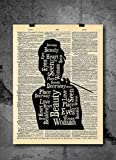 Audrey Hepburn Quote Vintage Art Print - Beauty of a Woman - Printed on Authentic Upcycled Dictionary Art Print - Unique Home or Office Decor - No Frame Included