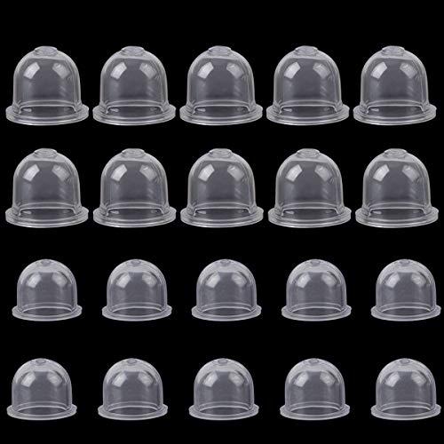 Rybtd Zündkapsel Primer Pumpe Birne 20 Stück Kraftstoffpumpe Vergaser Primerkolben 2cm/1,5cm Pumpendeckel für Kettensäge Gebläse Trimmer