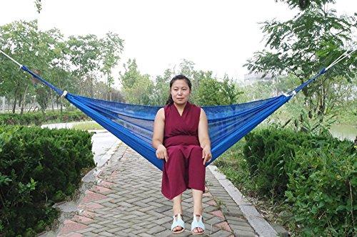 QAZSE Outdoor Camping en Vrije tijd Reizen Goederen Polyester Ijs Zijde Mesh Curve Bar Hangmat